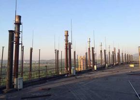 中美铝业8套煤气发生炉放散点火 武汉海韵顺利竣工