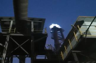 1套高炉煤气放散点火装置在【河北】点火成功 武汉海韵点火视频分享!