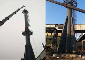 【山东】1套高炉放散塔煤气放散点火装置点火成功 海韵顺利完工!